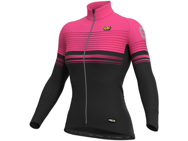 Alé Cycling Graphics PRR Slide Micro Maillot Mujer, black-fluo pink